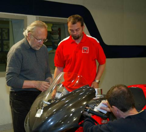 Ducati reveals wind tunnel work.