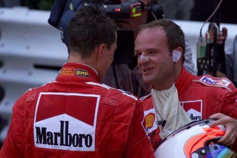 Monaco GP 2001 - Ferrari streets ahead.