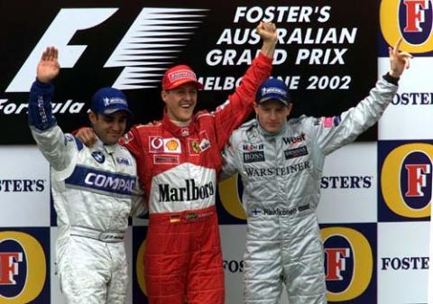 Race Result - Australian Grand Prix.