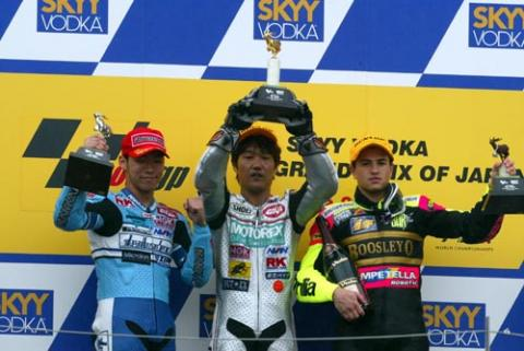 Honda wildcard takes podium finish.