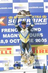 , - Corser With World Championship Trophy, Magny Cours WSBK Race 1, 2005