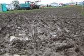 , - 08.07.2012- Wet and muddy car parks and camp sites at the circuit