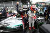 , - 25.11.2012- Race, Sebastian Vettel (GER) Red Bull Racing RB8, world champion 2012 with Michael Schum