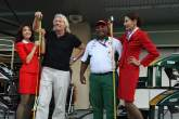 Saturday, Sir Richard Branson (GBR), Virgin Group CEO, Tony Fernandes (MAL), Lotus F1 Team follow up
