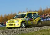 Carlsson wins 'Junior' Rally GB for Suzuki.