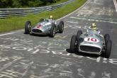 Hamilton, Rosberg drive historic Silver Arrows