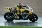 Brookes grabs pole position in slippery conditions