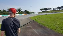 Trackside at Sepang with Bradley Smith