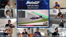 Bagnaia highside ends 'fun' Virtual victory challenge