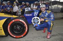 Alexander Rossi bests Scott Dixon for Detroit Race 1 Pole