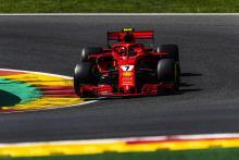 Raikkonen edges Hamilton to lead second practice at Spa