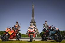 Pit stop in Paris for Zarco, Lorenzo, Quartararo