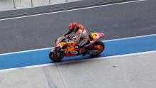 Marquez fastest after 97 birthday laps, new fairing