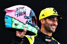 Ricciardo reveals striking new F1 helmet design