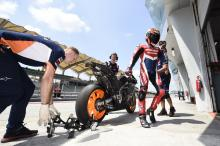 Who is in action for the Sepang shakedown test?