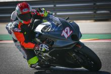 Lanzi tests MV Agusta Moto2 machine