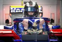 Kvyat hits the track in new Toro Rosso STR14