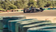 Hartley in action as Porsche completes second Formula E test