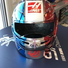 Grosjean reveals special French GP F1 helmet