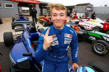 Monger takes first British F3 pole at Donington, 17 months after crash