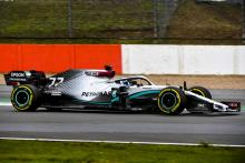 Mercedes' W11 F1 car makes track debut at Silverstone