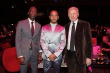 Hamilton shares Laureus Sportsman Award win with Messi