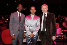 Hamilton shares Laureus Sportsman Award win with Messi