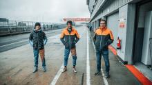 McLaren F1 pair Sainz and Norris in F3 test at wet Silverstone