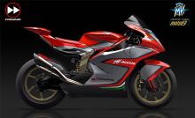 First look at MV Agusta Moto2 machine