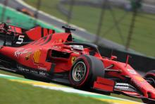 Vettel pips Leclerc as Ferrari dominate Brazilian GP FP2