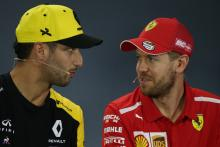 Ricciardo backs Vettel: 'He's one race from turning it around'