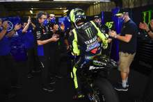 Valentino Rossi's Factory Yamaha farewell: 'Amazing, emotional moment'