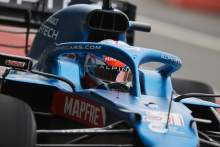 Ocon at the wheel as Alpine A521 F1 car makes track debut at Silverstone