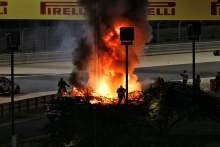 F1 Bahrain GP suspended as Grosjean escapes horrific fiery crash