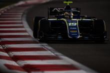 Carlin's Deletraz fastest in opening Abu Dhabi F2 test