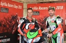 Biaggi, Capirossi back on track at Mugello in Aprilia Racers Day