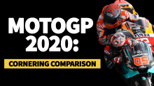 MotoGP 2020: Cornering comparison