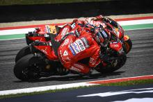 Watch: Petrucci's daring Marquez-Dovizioso double pass