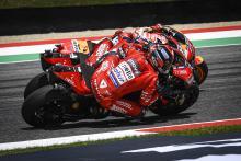 Watch: Petrucci's daring Marquez-Dovizioso double pass