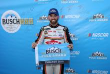 Austin Dillon beats Kevin Harvick for Chicagoland pole