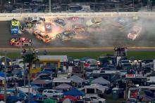DiBenedetto's Daytona 500 charge wrecked in pile-up