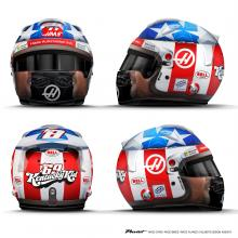 Grosjean reveals Hayden tribute helmet for United States GP