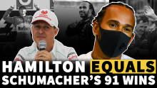 F1 VIDEO: Lewis Hamilton equals Michael Schumacher's wins record