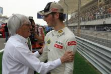 22.04.2012- Race, Bernie Ecclestone (GBR), President and CEO of Formula One Management and Romain G
