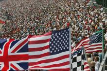 02.07.2006 Indianapolis, USA, Fans in the grandstand - Formula 1 World Championship, Rd 10, United S