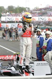 Hungary 2007: Lewis calm after storm.