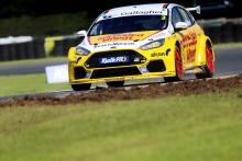 Chilton fends off Cook and Plato for race three win