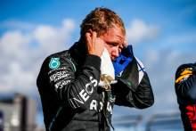 Valtteri Bottas (FIN) Mercedes AMG F1 in qualifying parc ferme.