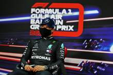Valtteri Bottas (FIN) Mercedes AMG F1 in the post qualifying FIA Press Conference.