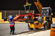 The Ferrari SF1000 of race retiree Charles Leclerc (MON) Ferrari is removed from the circuit.